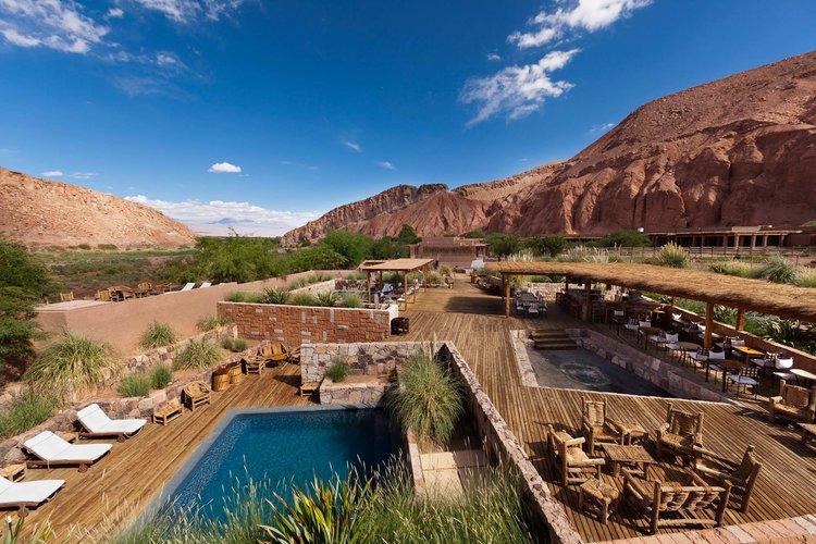 Pool and Sundeck at Alto Atacama Desert Lodge & Spa