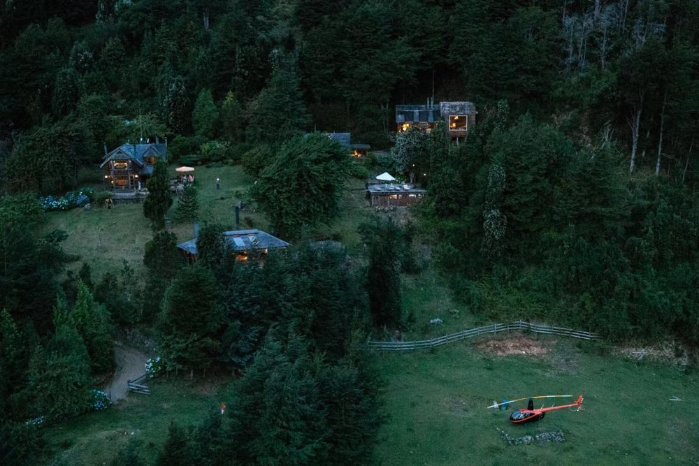 View of Barraco Lodge, Chile