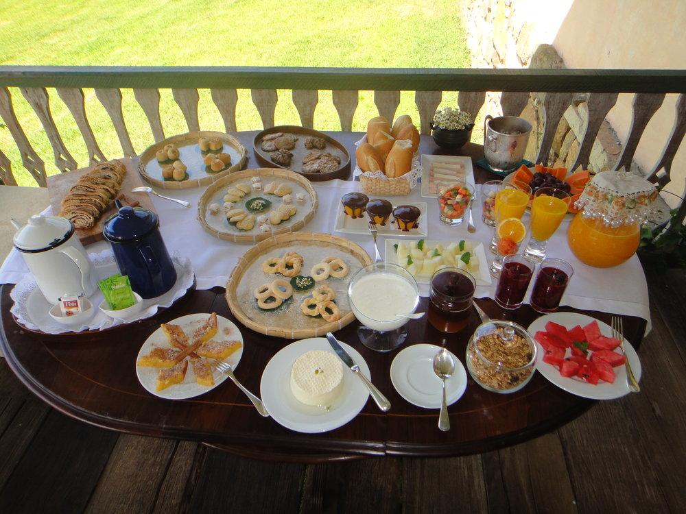 A typical  mineiro  breakfast awaits!