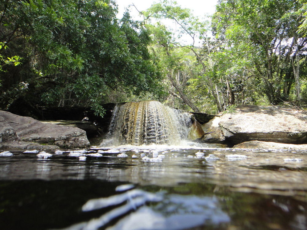 Waterfalls and hiking trails within the reserve
