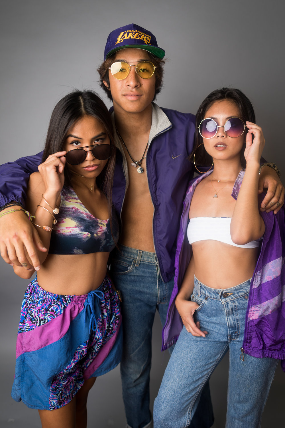 My girl Dom and Iare wearing jewelry from   Kolohe Ocean Gems   in purple threads with RT