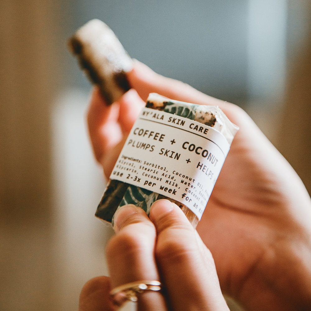 Coffee + Coconut Bar for exfoliating
