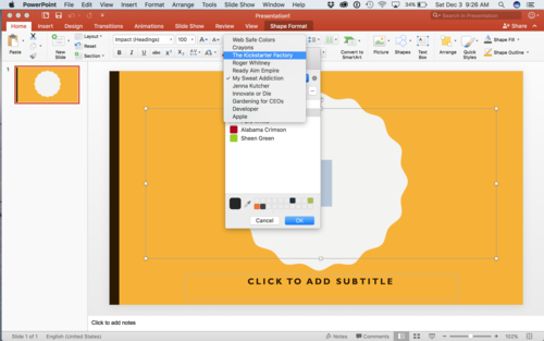 MS PowerPoint for Mac