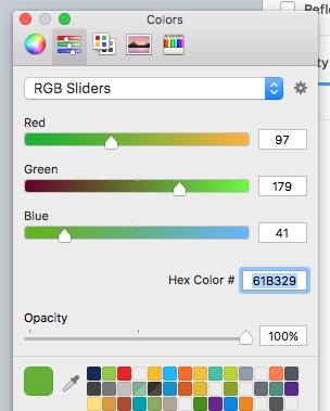 Find the Hex Color # under Color Sliders in the color panel.