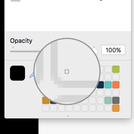 Sample the empty block color and drag it onto the remaining color to clear the sample saver