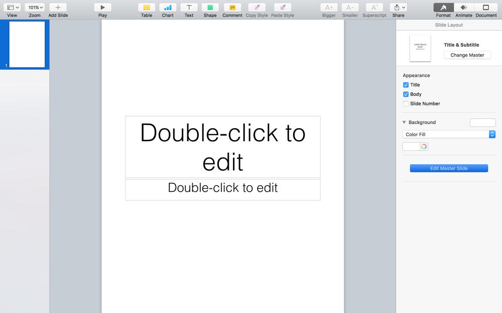Access Master slides