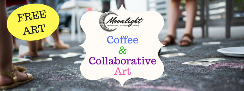 Coffee and Collaborative Art at Moonlight Coffeehouse