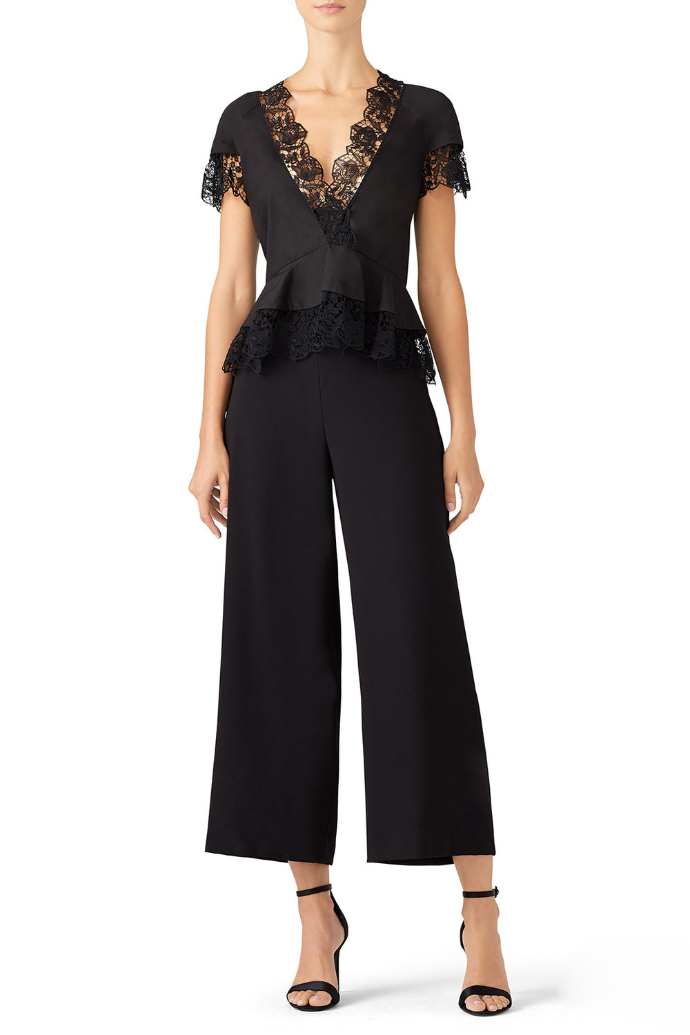Lace Albany Top by A.L.C - Why It Works: Neutrals are great! The pop of black will offer nice contrast in your images. The lace neckline adds a feminine touch and visual interest.