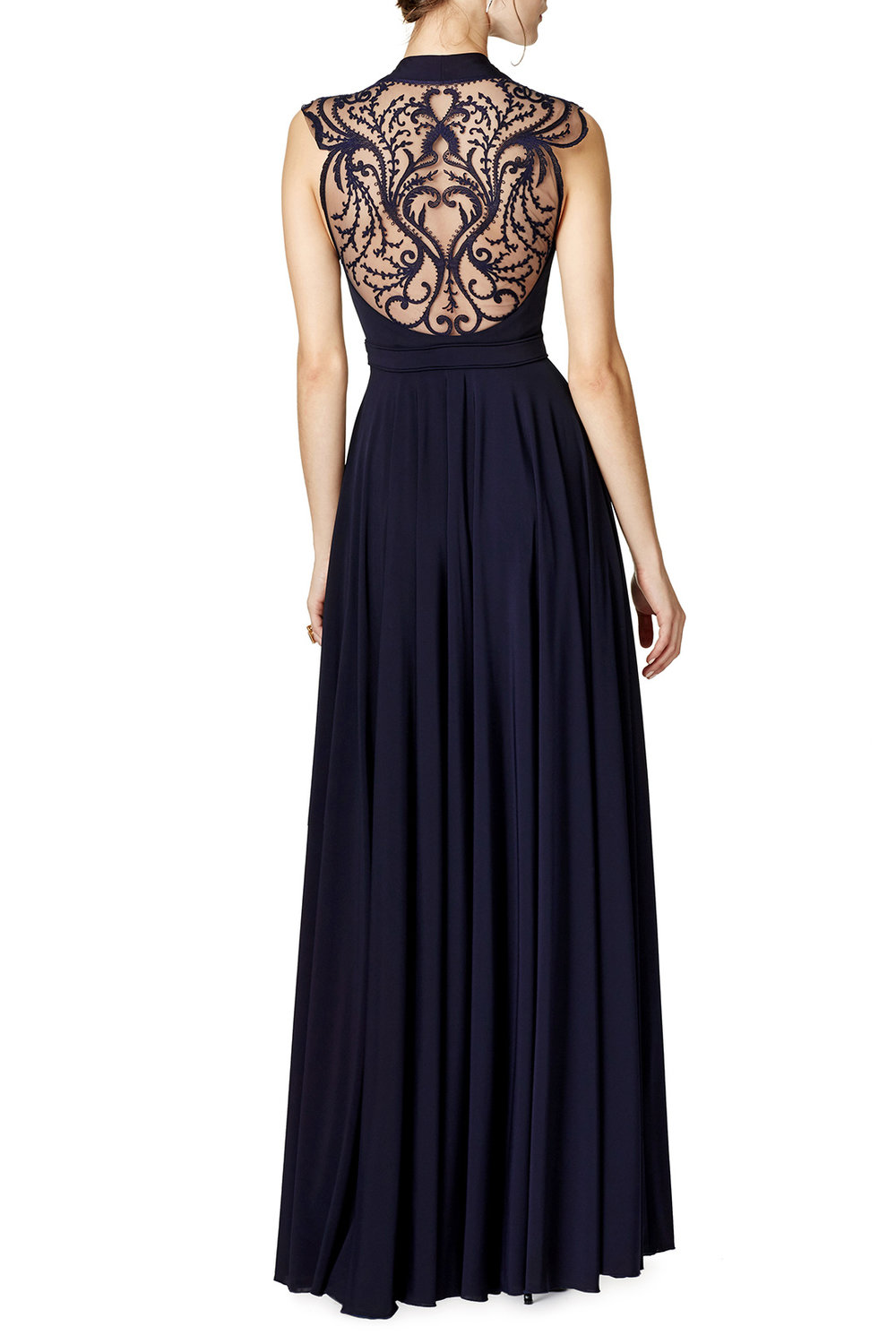 Winona Gown by Catherine Deane - Why It Works:  For those who want a truly elegant style for their engagement portraits, the Winona Gown by Catherine Deane is an excellent choice. The gorgeous dark purple color is rich and romantic while the lace insert back brings a delicate and interesting element.