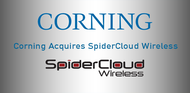 Corning Incorporated has acquired   SpiderCloud Wireless, Inc.    CORNING, NY | July 19, 2017 - Corning Incorporated (NYSE: GLW) indicated, that SpiderCloud will become part of the Corning Optical Communications segment, and aligns with the business' strategy of growing annual sales from $3 billion in 2016 to $5 billion in 2020 through innovation and acquisitions.
