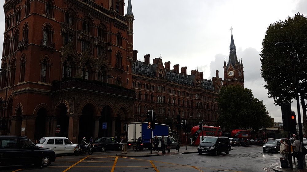 Here is the absolutely stunning King's Cross St. Pancras Underground Station, which is near where we had breakfast.