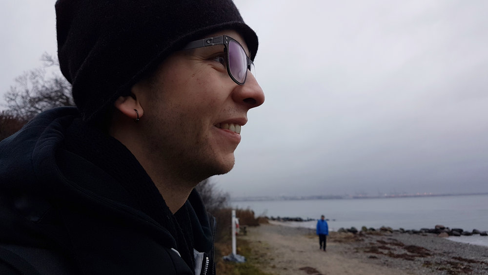 Here is a rare thing! A photo of myself that I really like. Photo credit to my partner. Here is Ballehage Beach where we walked along the shore for hours.