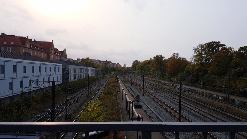 Photo of the tracks near Østerport Station.
