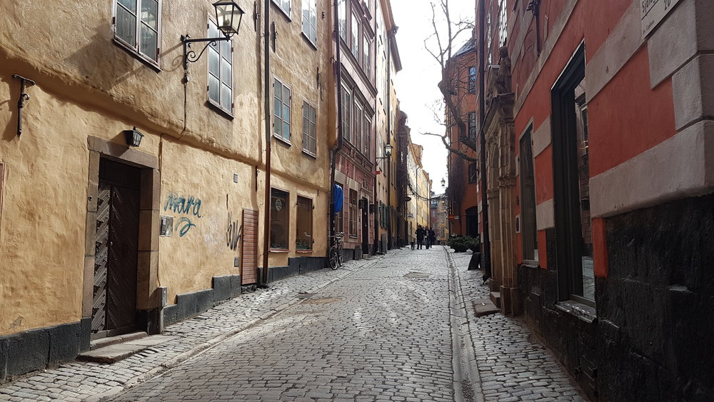 I am immensely disappointed with the turn out of the photos I took in Stockholm, partially because I don't have a proper camera and have thus been taking all of these with my phone, but also because I am not much of a photographer. This is my favourite photo from the trip however and is from  Gamla stan .
