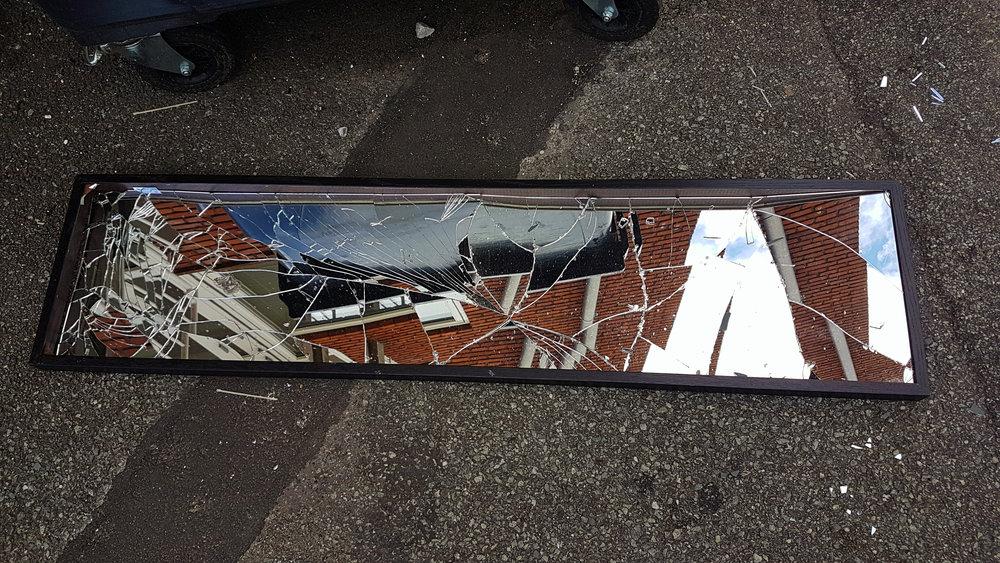 Broken mirrors are never not poetic. Found and taken in Aarhus.