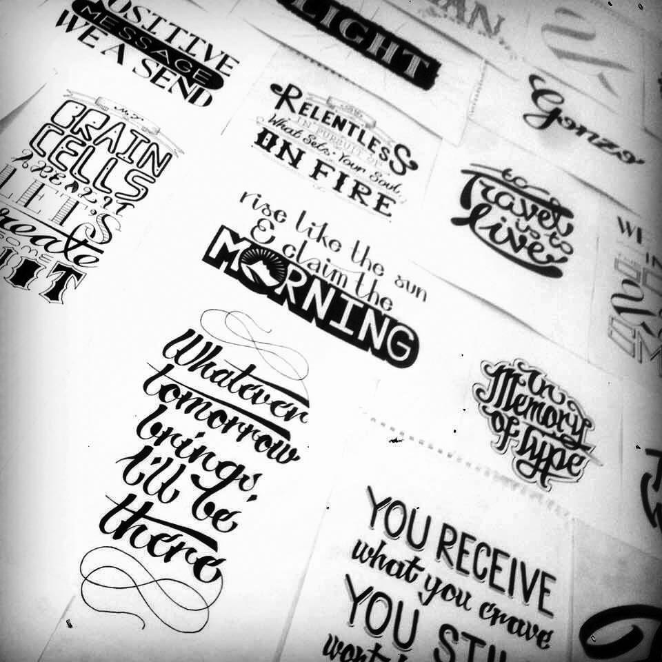 Hand Lettering Portfolio