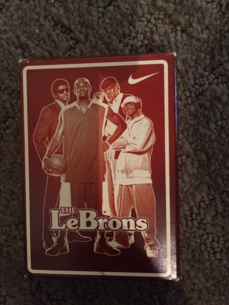 "Rare Vintage Nike Lebron James ""The LeBrons"" Playing Cards, sold $25 eBay"