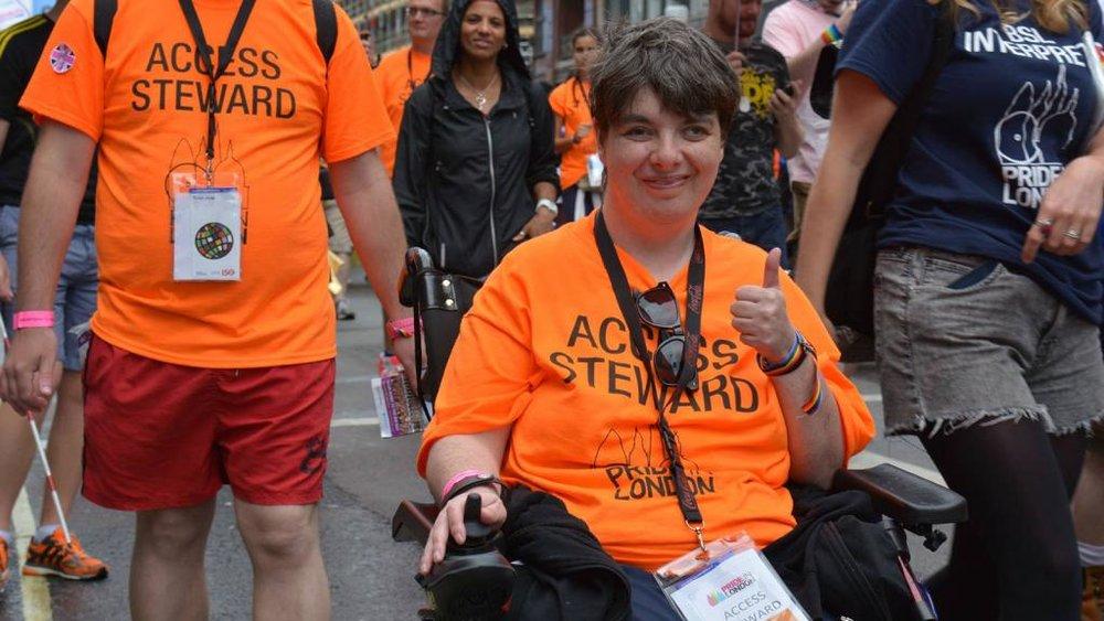 We have dedicated volunteer access stewards (Photograph: Lauren Anderson)