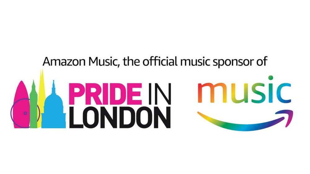 Amazon Music, the official music sponsor of Pride in London (Photograph: Amazon Music)