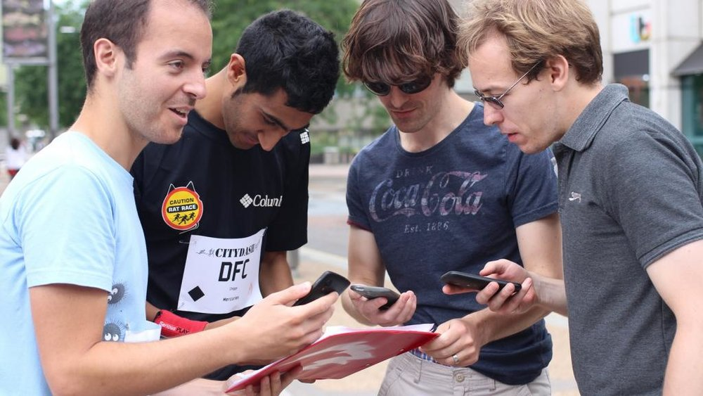 Audiences taking part in City Dash (Photograph: Fire Hazard Games)