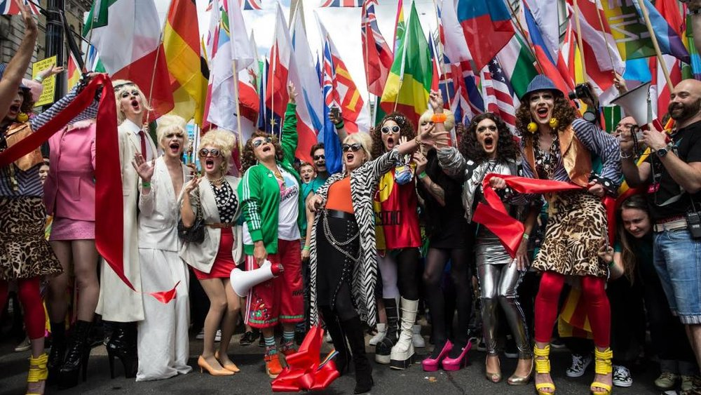 Drag Queens as part of last year's Pride in London (Photograph: James Gourley)