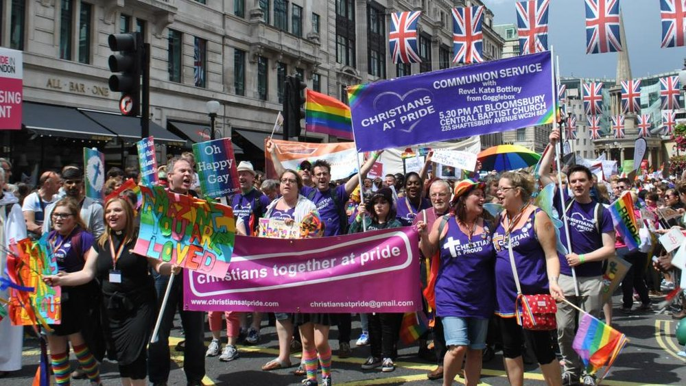 Christians at Pride in last year's Parade (Photograph: David Warren / Christians at Pride)