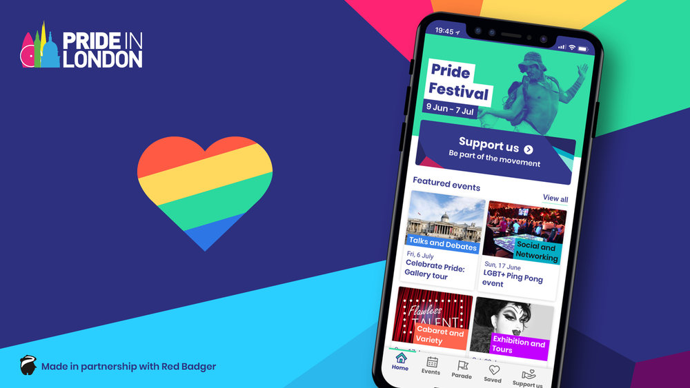pride in london launches new and improved app to help festival and