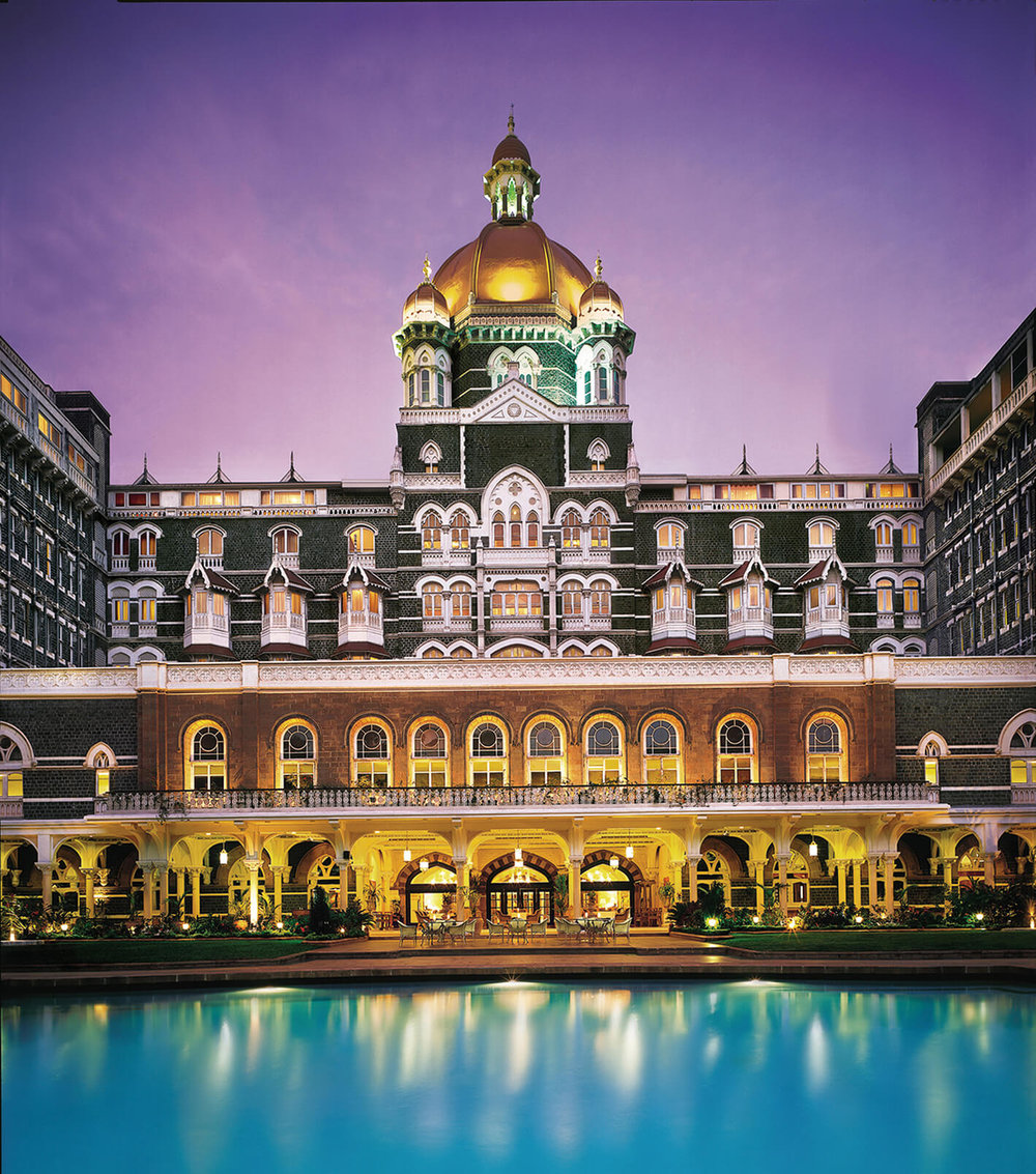 Accommodations in Mumbai - The legendary and iconic Taj Mahal Palace at Apollo Bunder by the Gateway to India in Colaba will be our base.