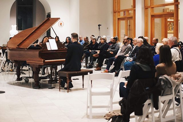 #tbt to a concert we presented at the @cincyartmuseum back in February with local visual artist, Ana England! We can't wait to play for you soon, Cincinnati! #cincyarts #newmusic #contemporaryart
