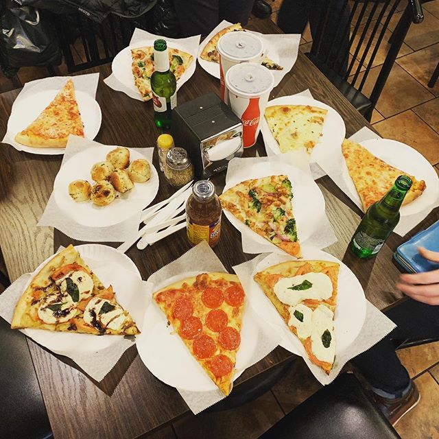 Can't be in New York without getting pizza after rehearsal! 🍕 ❤️ 🎶