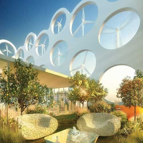 What a cool concept for a community garden integrated with a wind farm! #EnergyClubNZ