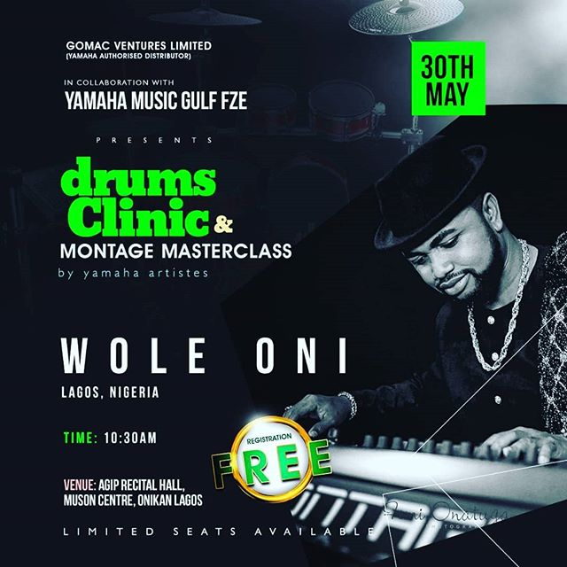 Information, Education, Association and Revelation are must haves for anyone that wants to do Purpose/Career valiantly.  Yamaha brings you two world class Music instructors(Associations)  @iamwoleoni and @drumrolle to expose your minds to new horizons in using the Yamaha montage synthesiser and playing the drums (revelation) As they educate and inform you from their wealth of authoritative experience.  Date = 30th of May 2018. Venue= Agip Recital hall, Muson, Onikan. Time = 10am prompt  Trust me when I say IT IS LOADED! AND FREE!  DO NOT MISS IT! #wompexpression  #yamahamontage #yamaha #muson #masterlcass #teach #learn #student