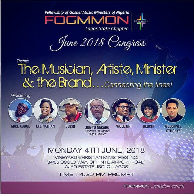 Fogmmon lagos Congress is tomorrow 4th of June. @fogmmonlagos Don't miss it  Check flyer for details.