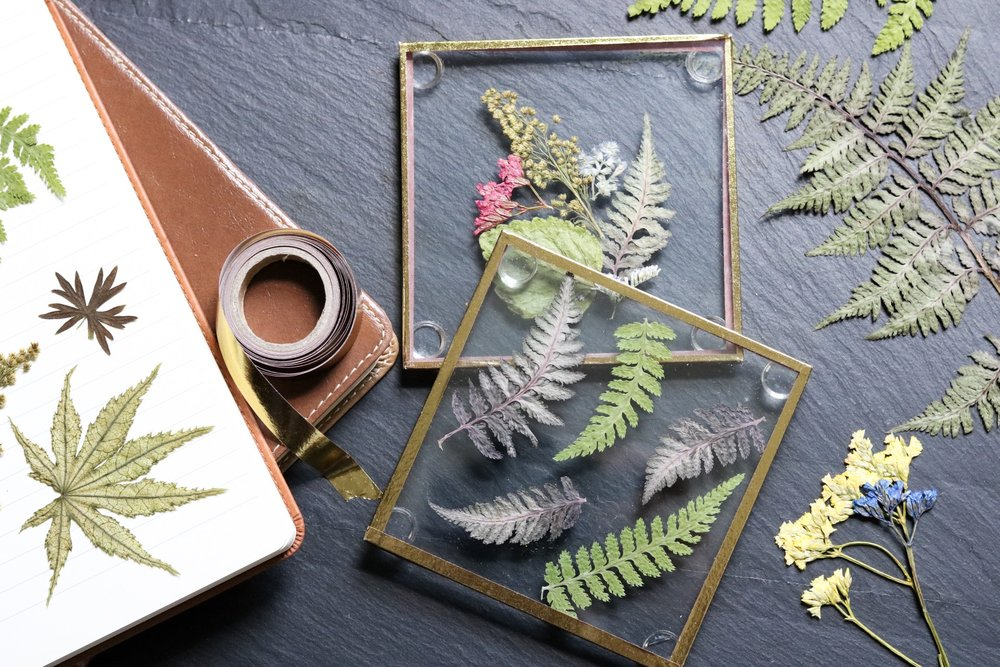 Dollar store flower coasters by crafty lumberjacks