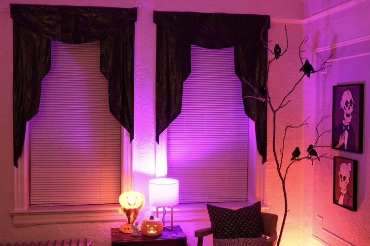 Halloween Trash Bag Curtains — Crafty Lumberjacks