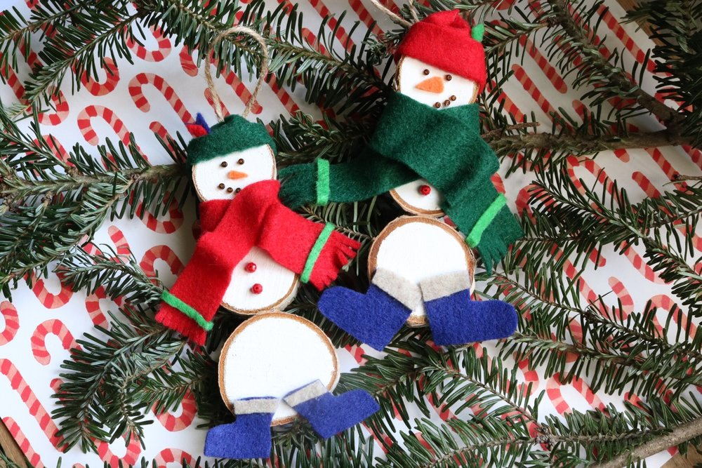 Wooden Snowmen.