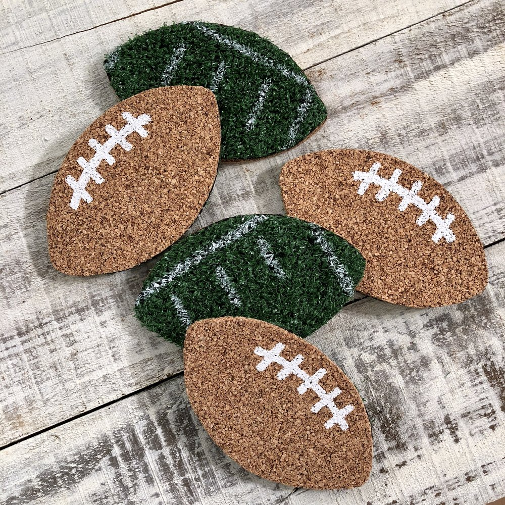 REVERSABLE FOOTBALL COASTERS
