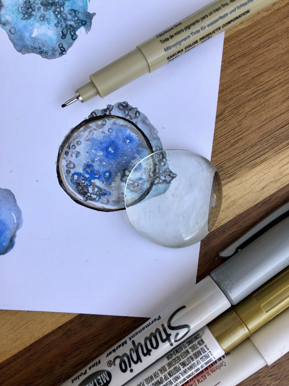 Watercolor Geode Magnet DIY