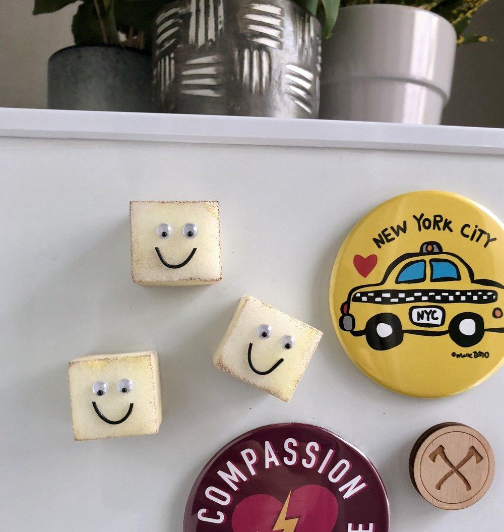 Mini Baked Tofu Magnets Vegan Craft