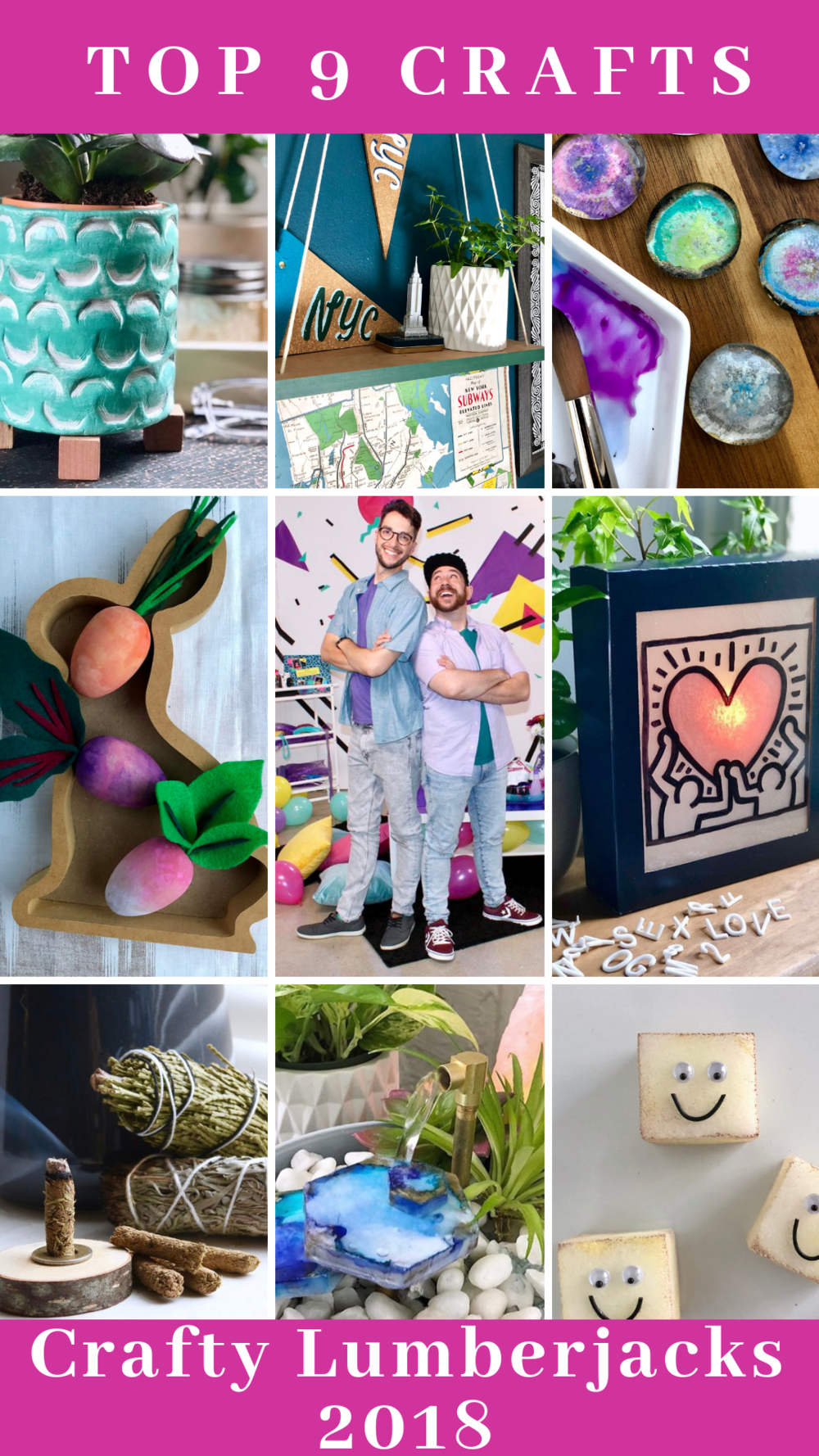 We're counting down our top 9 DIYs from 2018! So many fun projects, so little time!