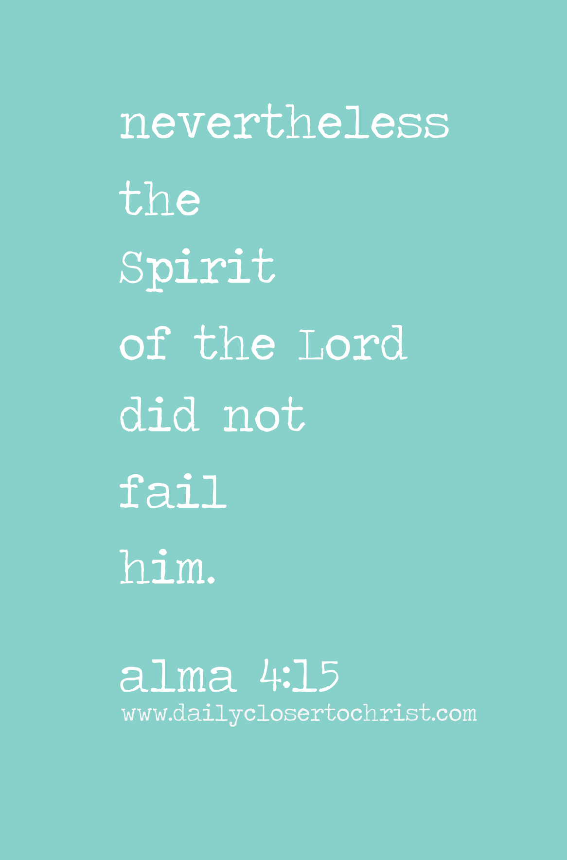 Spirit did not fail