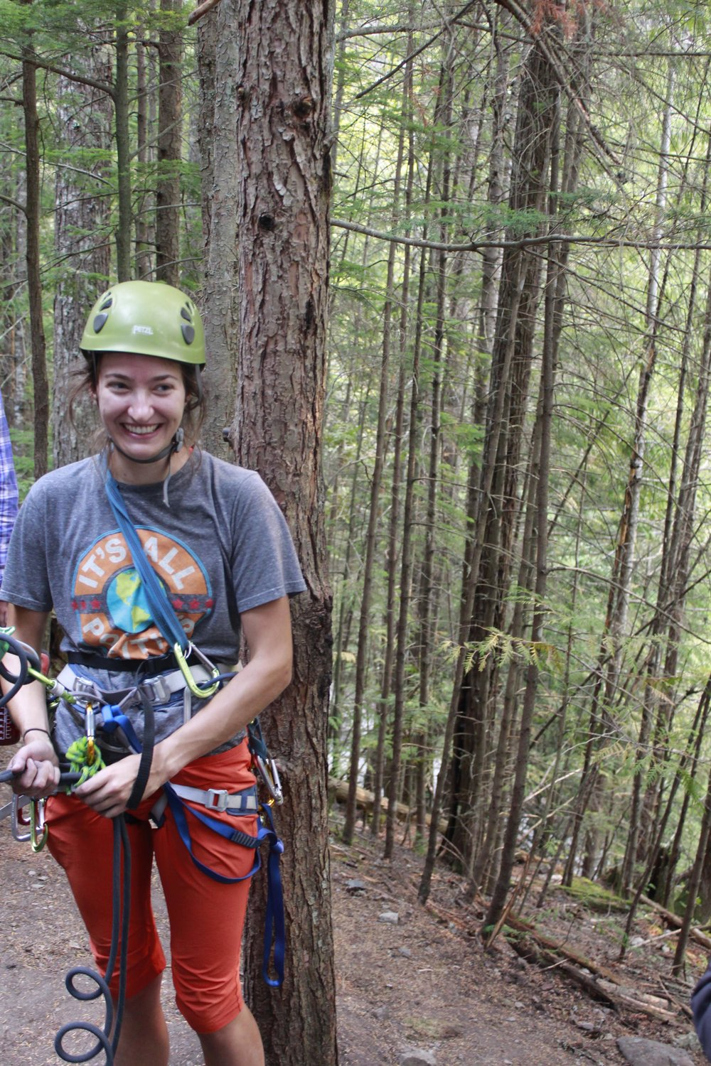 Robin Smith belaying for another climbing in Squamish during our sport climbing day!