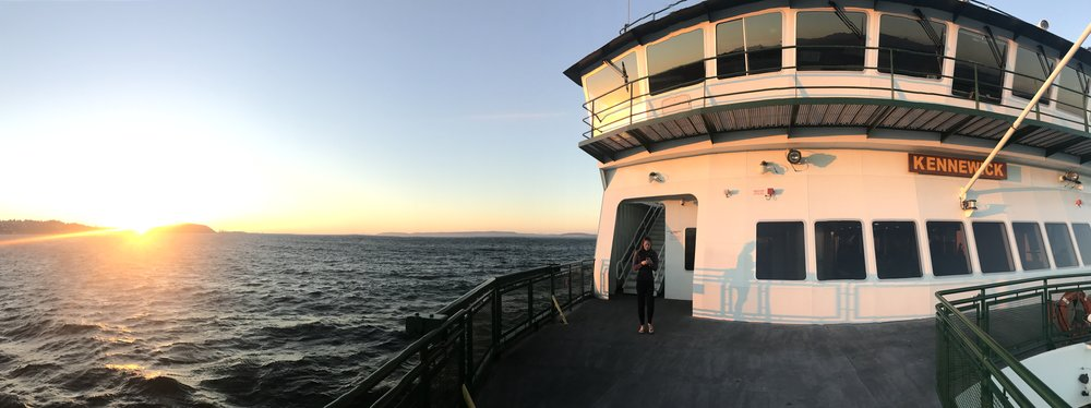 We proceeded to see the most beautiful sunset from the ferry!