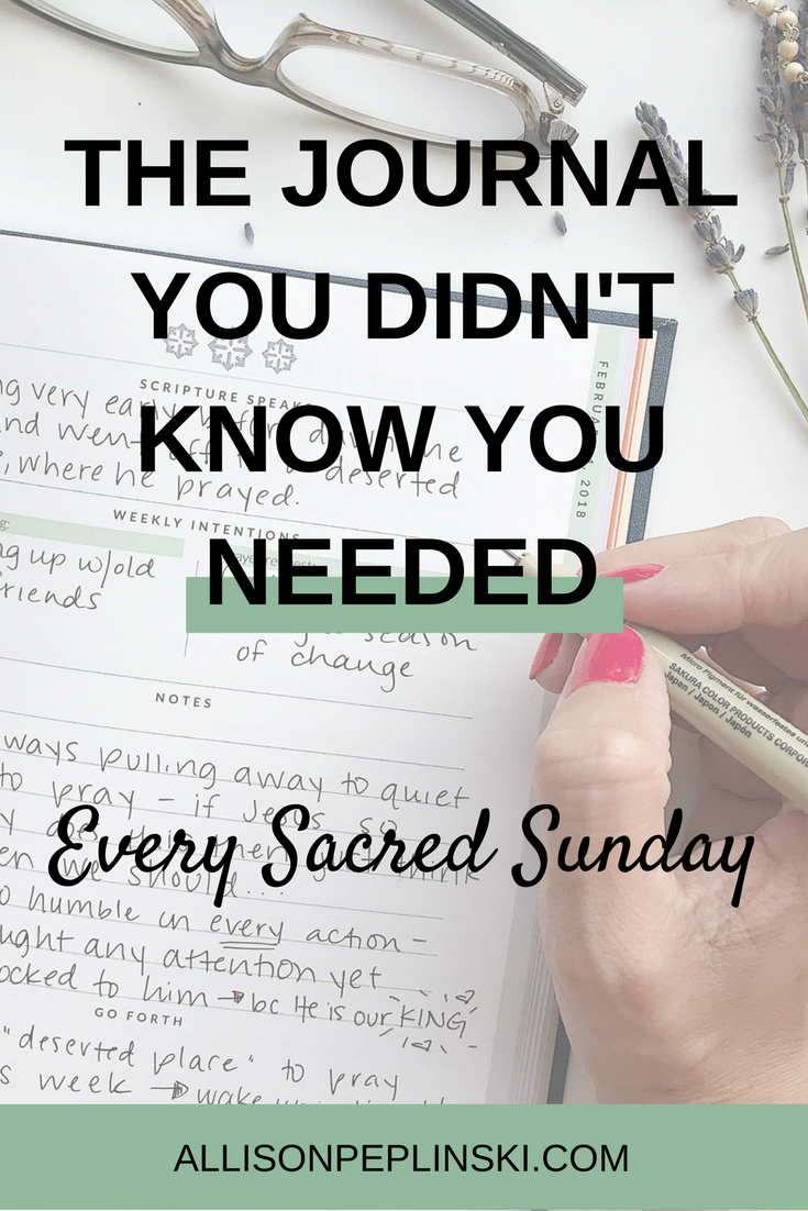 Mass Journal, Every Sacred Sunday