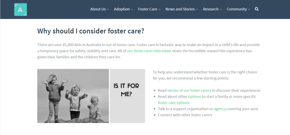 Content Strategist @ Adopt a Life by Olga Rudenko - An independent information portal and community about adoption and foster care in Australia