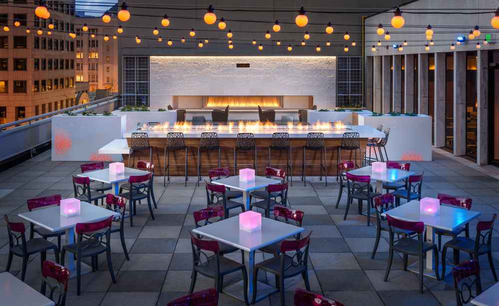 The fifth-floor rooftop of Motif Hotel on Fifth Avenue is home to  Frolik