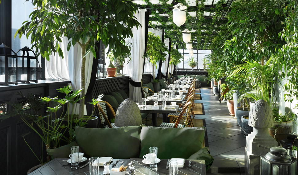 Gramercy Terrace  at the Gramercy Park Hotel is a rooftop garden oasis.