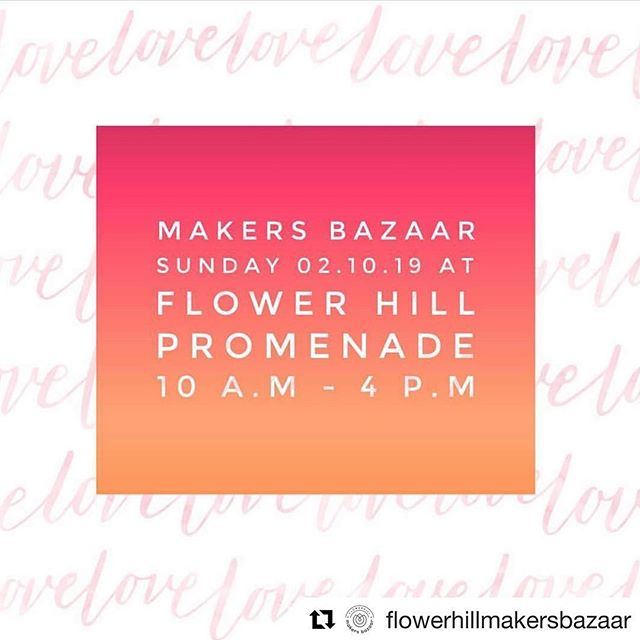 #Repost @flowerhillmakersbazaar with @get_repost ・・・ February the month of love! Tell your friends & family it's our first event of the year! Join us this Sunday with over 25 + Local Makers & free crafts, amazing balloon artist, live music & our fabulous award winning Boutiques & Restaurants! ❤️❤️❤️❤️❤️❤️ See you Sunday!!!