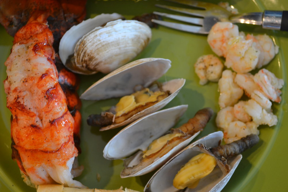 Lobster Tail and Steamed Clams Dinner