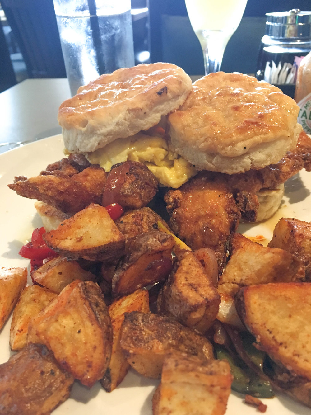 bri rinehart; brunch; savin hill bar + kitchen; chicken + biscuits